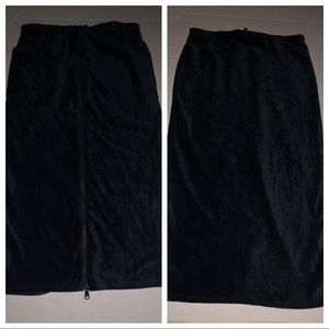 Urban outfitters NWT velvet skirt blue zipper knee